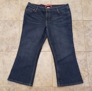 Mossimo Good Condition Stretch Boot Cut Blue Jeans